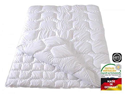 Frankenstolz Microfaser Vierjahreszeiten- Steppbett Kochfest Nevada 135x200 cm, Flexible Bettdecke knöpfbar, waschbar bis 95°C, für Allergiker geeignet
