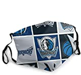 'N/A' Mundschutz Mundschal Gesichtsschutz Dallas Basketball Mav-ericks Atmungsaktive Staubdichte Wiederverwendbarer Bnadana Bala.