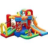BaoYPP Inflable Castillo Hinchable Zona de Juegos Infantil Interior del hogar Juguetes Niños Inflable Circo Trampolín (Color : Multi-Colored, Size : 300x360x210cm)