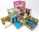 6 x Modular Apartments interiores para construcción de bloques de construcción, casa Modular Building, 936 bloques de construcción