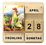 MontessoriPlus großer Dauerkalender, Holzkalender 4 Jahreszeiten