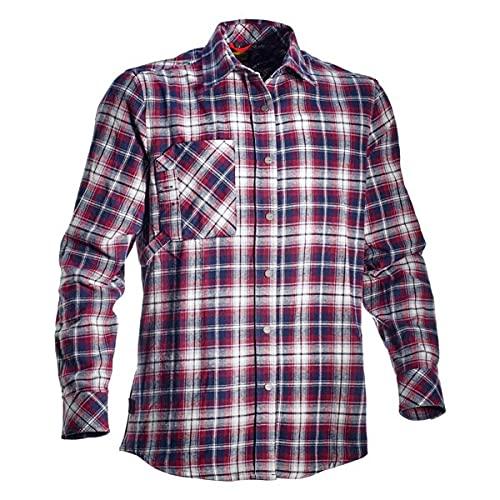Utility Diadora Sweat&Shirt Felpa e Maglietta, Motivo a Quadri, Corsair, Taglia XL, Blu Navy, Bianco Stellato, Rosso, Uomo