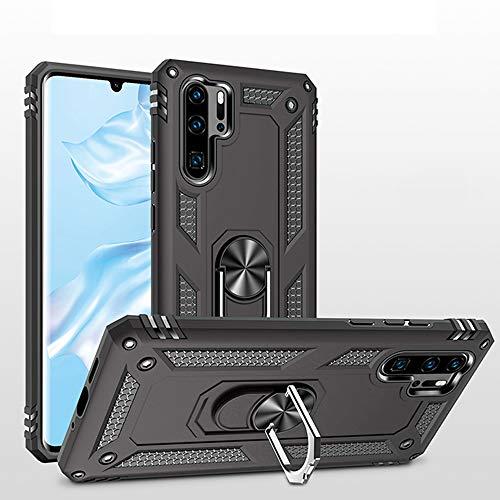 Capa de telefone para Huawei P30 Pro com suporte de anel feminino slim protetor fino e amigável de silicone curvo acessórios de celular aderência Hawaii P30Pro P 30 Pro30 capa traseira à prova de choque preta, for P30 Pro, Black for P30 Pro