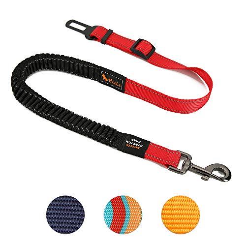 Hoteck Hunde Sicherheitsgurt, Universal Hundegurt fürs Auto,Hundesicherheitsgurt mit Elastischer Ruckdämpfung und Starke Karabiner, Einstellbar Hundegurt