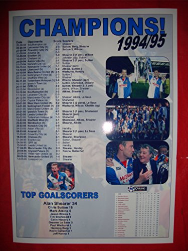 Blackburn Rovers League Champions 1994–95 – Souvenir Print