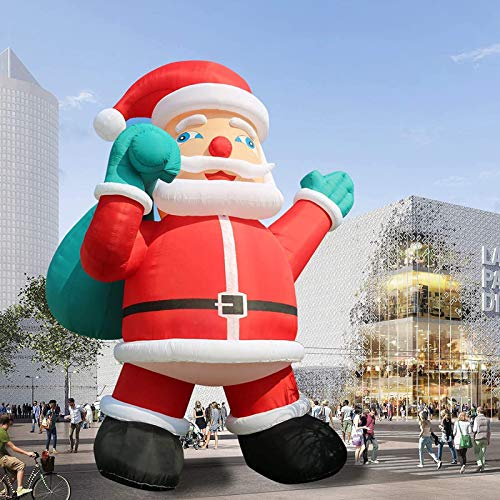 TKLoop Giant 26Ft Premium Inflatable Santa Claus with Blower for Christmas Yard Decoration Outdoor Yard Lawn Xmas Party Blow Up Decoration