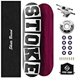 M-YN Skateboard Completa, Monopatines completos 31'x 8' de Arce Canadiense Cruiser Pro Patín for Extreme Deportes y Aire Libre (Color : White+Black)