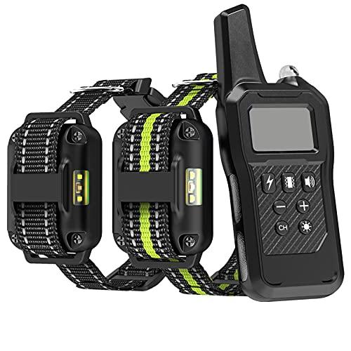 FunniPets Dog Training Collar, 2600ft Range Dog Shock Collar with Remote Waterproof Electronic Dog Collar for Medium and Large Dogs with 4 Training Modes Light Static Shock Vibration Beep