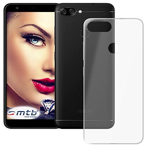 mtb more energy® Schutz-Hülle Clear und Slim für Asus Zenfone Max Plus M1 (ZB570TL, 5.7'') - transparent - flexibel - TPU Silikon Hülle Cover Tasche