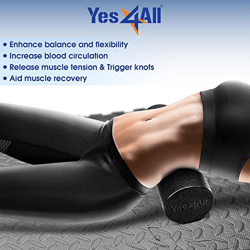 Product Image 6: Yes4All EPP Exercise Foam Roller – Extra Firm High Density Foam Roller – Best for Flexibility and Rehab Exercises (18 inch, Black)