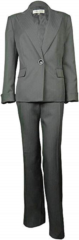 Evan Picone Women's Pinstripe Madison Avenue Pant Suit