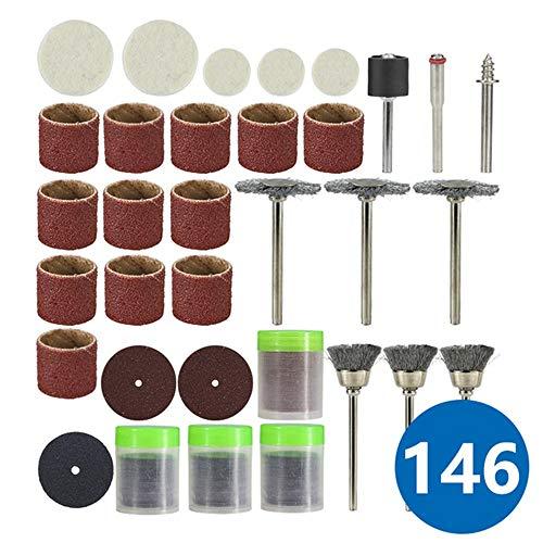 Abrasive Tools Rotary Tool Accessory for Dremel Mini Drill 146Pcs Grinder Polishing Sanding Abrasive Tools Set - (146Pcs Set)