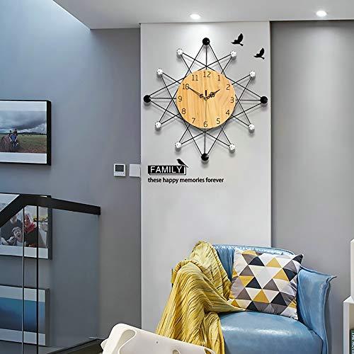 L.J.JZDY wandklok wandklok strak minimalistisch ontwerp klok woonkamer slaapkamer decoratie mute kwarts klok