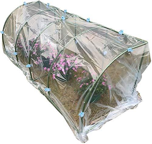 Invernadero de Jardín Marco del túnel de la planta de balcón del jardín, con la cubierta de PVC transparente y el clip, la casa de crianza verde portátil a prueba de agua y a prueba de frío, p