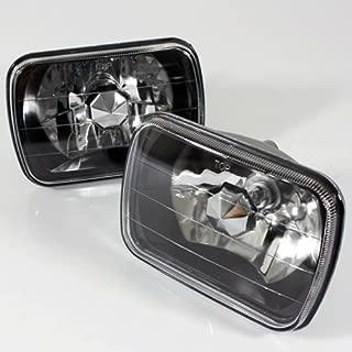 ModifyStreet 7x6 H6014/H6052/H6054 Black Crystal Headlights Lamps Conversion