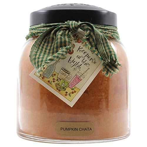 A Cheerful Giver Pumpkin Chata 34 oz Papa Jar Candle, Orange