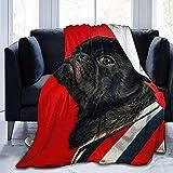 alice-shop Manta de vellón Micro Suave y Suave para Mascotas para Perros, Ideal para Viajes de Oficina en dormitorios