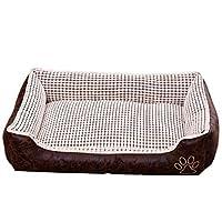 犬のベッド耐久性のあるマット の犬や猫のための綿のペットのパッドを詰め洗える滑り止めソファクッション犬