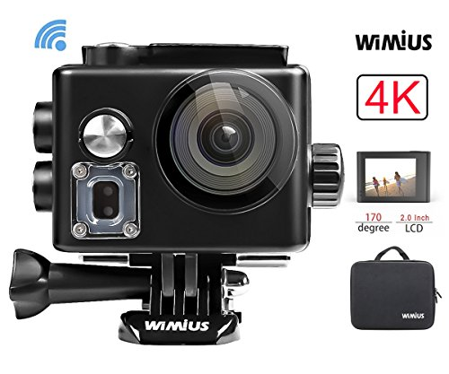 Action Cam, WiMiUS Fotocamera Subacquea 4k HD 16MP...