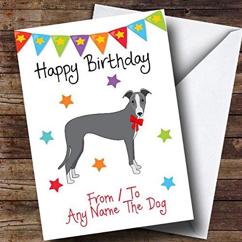 van Pet Dog Italiaanse Greyhound Gepersonaliseerde Verjaardagskaart