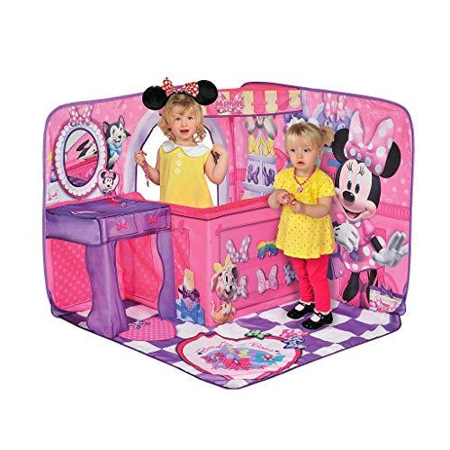 Casita Plegable para niñas Minnie Mouse 3D, Esquinero de Minnie Mouse Pop-up área para Juego de niñas.
