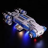 QZPM Kit De Iluminación Led para Lego Star Wars Resistencia I-TS Transporte Compatible con Ladrillos De Construcción Modelo 75293 (Juego De Legos No Incluido),B