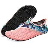 BARERUN Water Sports Shoes Barefoot Quick-Dry Aqua Yoga Socks Slip-on for Men Women Pink 6.5-7.5 Women 5-6 Men