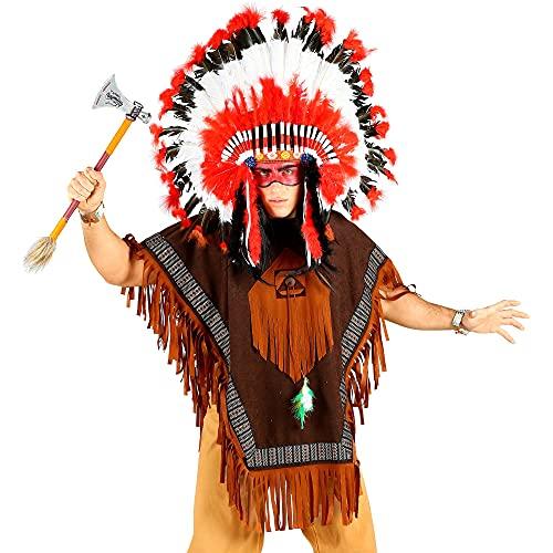 WIDMANN - Disfraz indio para hombre, multicolor, talla única