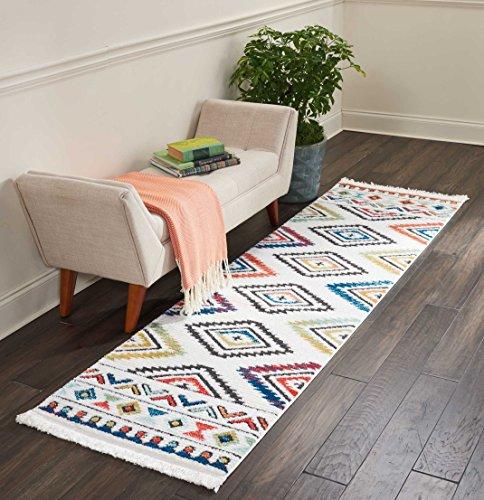 Marca de Amazon - Movian Matevir, alfombra rectangular, 236,2 de largo x 66 cm de ancho (diseño geométrico)