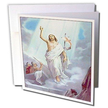 3dRose Gc_163280_2 Grußkarten, realistisches Gemälde von Christus Auferstehung, 15,2 x 15,2 cm, 12 Stück