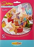 Decocino Essbare Schmetterlinge HOCHWERTIGE Tortendeko von DEKOBACK | essbare Schmetterlinge aus Oblaten | 1er Packung (1 x 4 g) | 12 Motive in der Packung | Schmetterlinge Kuchendeko kaufen parent -
