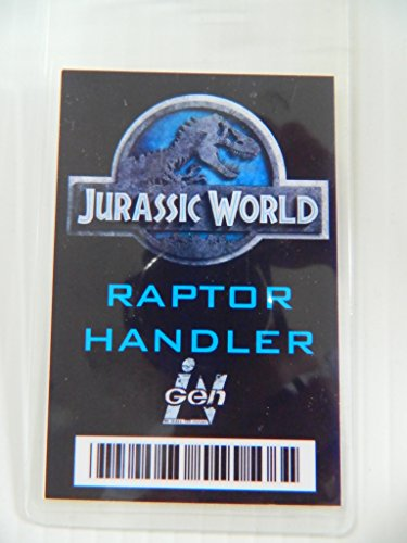 HALLOWEEN COSTUME MOVIE PROP - ID Security Badge Jurassic World (Raptor Handler)