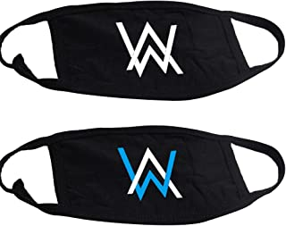 Beautymei Alan Walker Logo Mouth Mask Anti-Dust Face Mask with Adjustable Earloop Breathable Outdoor Face Mask, 2Pcs