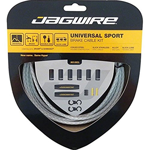 Jagwire Universal Sport - Cables de Freno para Bicicleta Blanco Blanco