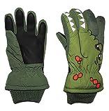 alles-meine.de GmbH Fingerhandschuhe mit Schaft / Strick Bündchen -  Krokodil grün  - Thermo gefüttert Thermohandschuh - Größe: 2 bis 4 Jahre - wasserdicht + atmungsaktiv Thins..