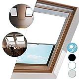 Hengda Dachfenster Rollo Verdunkelungsrollo, Verdunkelung & Thermo Hitzeschutz für VELUX Dachfenster, S06 Weiß (97.3x94cm)