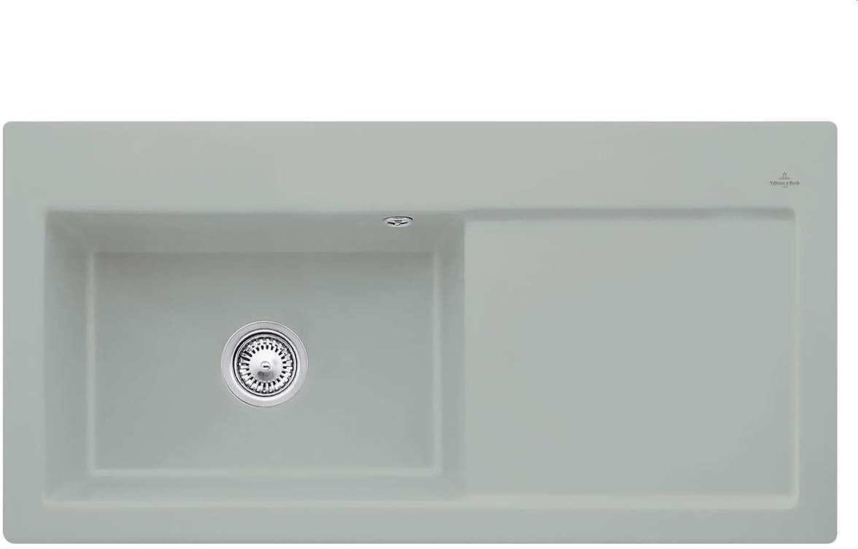 Villeroy & Boch Subway 60 XL Fossil Hellgrau Keramik-Spüle Einbauspüle Küche