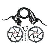 IDWF Bicicletas MTB Freno hidráulico de Freno Disco de Freno 800/1450/1550 Montaña Pinza Freno de Bicicleta de actualización BR BL MT200 MT315 (Color : MT200 14580 HS1 Set)