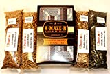 A-Maze-N Pellet Smoker 5x8 Combo Pack Includes 1 Pound ea of Cookin Pellets Perfect Mix, 100% Hickory, 1 Lb BBQR's Delight Jack Daniels and 1 Lb Lumber Jack 100% Cherry
