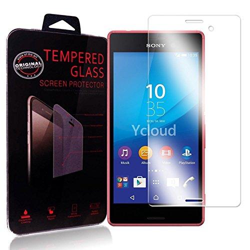 Ycloud Protector de Pantalla para Sony Xperia M4 Aqua (5Pulgada) Cristal Vidrio...