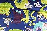 Stoffe-Online-Shop Baumwollstoff Knight Meets Dragon