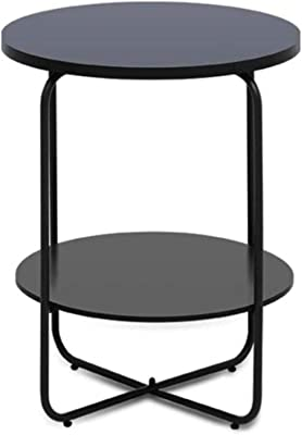 Exquisite and Practical HZYSJ- Desk Multi-Function Coffee Table, Can in Style Moves Iron Art Table Balcony Bathroom Shelf Small Apartment Decorative Simple (Color : B)