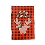 JJZXD Decoración navideña for el hogar Papá Noel Papá Noel Colgando Bandera Navidad Adorno Feliz (Color : G, Size : 48 * 34cm)