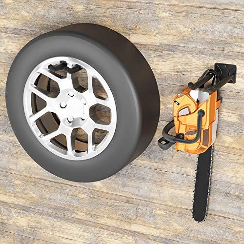 TORACK Garage Hooks Heavy Duty Tool Organizer, Wall Mount Hanger Rack Garage Storage Utility Hooks for Car Tires, Ladders, Chairs, Strollers, Power Tools, Garden Tools (2 Pack, 12.4