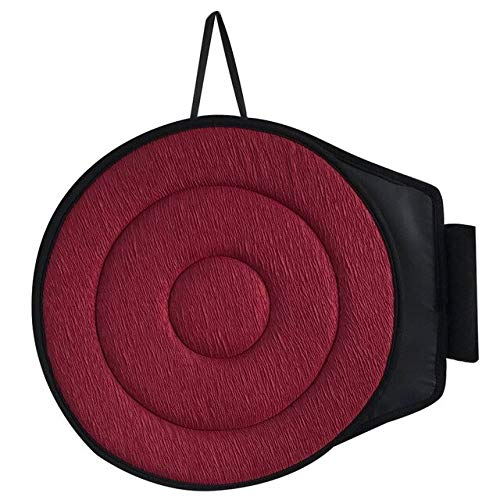 Portable Seat Revolving Degree Rotating Memory Foam Cushion Swivel Mobility Aid Chair Pad For All Car & Seat United States Red