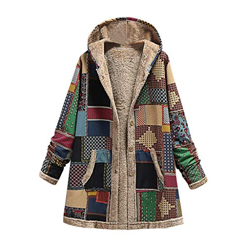 Dasongff dames winterjas plus maat winterjas donsjas warm fleece dikke jas ritssluiting katoenen mantel capuchon jas overgangsjas trenchcoat winterjas XXXL groen-1