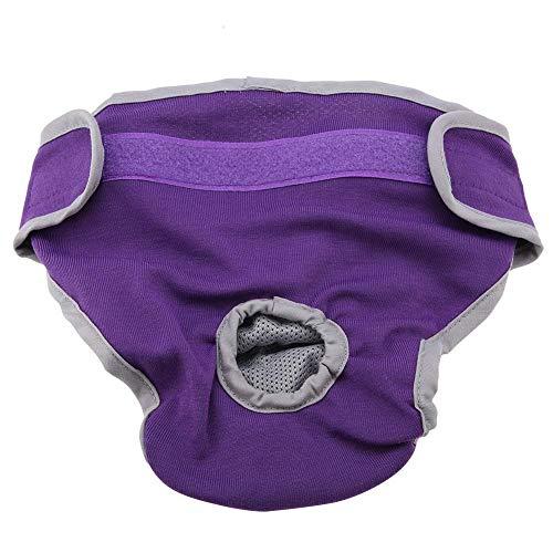Broco hond katoenen broek puppy ondergoed dames fysiologische broek Pet sanitair luier (violet, XL)