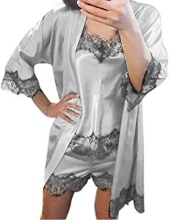 بيجامة للنساء - ملابس داخلية - بيجامة من الدانتيل - طقم ملابس داخلية.