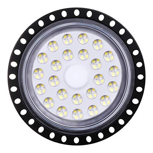 Sararoom LED Lámpara de Alta Bahía, 100W UFO Lámpara Industrial, 8000LM Focos Led Interior Techo, 6500K Industrial LED Iluminación Comercial Proyector Led para Aeropuerto Almacén Fábrica Sótano