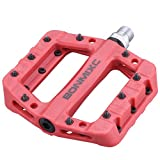 BONMIXC Nylon Bike Pedals 9/16 inch Platform Road Bike Pedals Cr-Mo Spindle Sealed Bearing DH BMX Bicycle Pedals